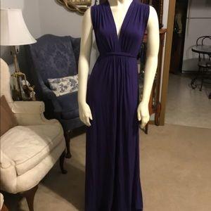 Olian Long Blue Dress